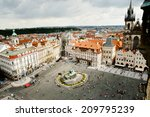old town square   prague  ... | Shutterstock . vector #209795239