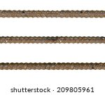 a lot of rebar steel which... | Shutterstock . vector #209805961