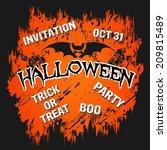 halloween grunge card... | Shutterstock .eps vector #209815489