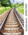 rail of train among nature ... | Shutterstock . vector #209817859