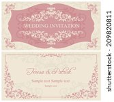 antique baroque wedding... | Shutterstock .eps vector #209820811