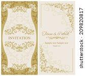 antique baroque wedding... | Shutterstock .eps vector #209820817