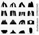 Постер, плакат: Mountains waterfalls volcanoes islands
