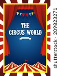 a vector illustration of circus ... | Shutterstock .eps vector #209823271