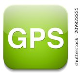 gps icon | Shutterstock .eps vector #209823325