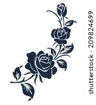 Stock vector rose motif flower design elements vector 209824699