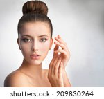 beautiful portrait of a girl...   Shutterstock . vector #209830264