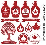 maple syrup. isolated maple...   Shutterstock .eps vector #209835199