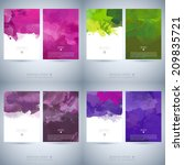 set of bright colorful vector... | Shutterstock .eps vector #209835721