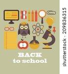 back to school card design.... | Shutterstock .eps vector #209836315