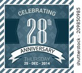 28th anniversary poster  ... | Shutterstock .eps vector #209850985