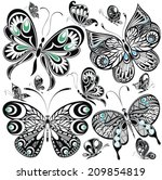 butterfly set | Shutterstock .eps vector #209854819