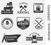 camping badges,premium adventure set,vintage design
