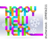 greeting holidays sign from... | Shutterstock . vector #209856211