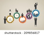 workforce  team working ... | Shutterstock .eps vector #209856817