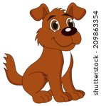 a cute puppy alone | Shutterstock .eps vector #209863354