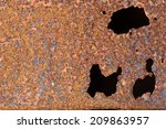 oxidized metal texture for... | Shutterstock . vector #209863957