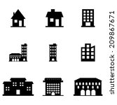 buildings_icons_set | Shutterstock .eps vector #209867671