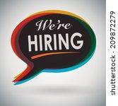 we're hiring  speech bubble | Shutterstock .eps vector #209872279