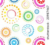 Colorful seamless circles pattern on white background - stock photo