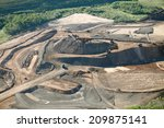 Ore stored an a open pit mining operation