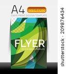 vector a4 cmyk modern flyer... | Shutterstock .eps vector #209876434