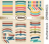 new vector set of ribbon... | Shutterstock .eps vector #209884021