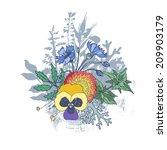floristic composition. bouquet... | Shutterstock .eps vector #209903179