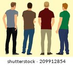 men view from the back standing ... | Shutterstock .eps vector #209912854