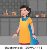 beautiful indian woman in a... | Shutterstock .eps vector #209914441