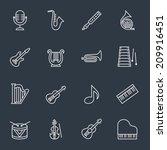 music instruments | Shutterstock .eps vector #209916451