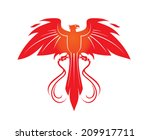 phoenix with whips | Shutterstock .eps vector #209917711