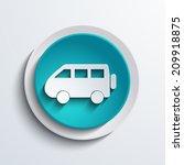 vector modern blue circle icon. ...