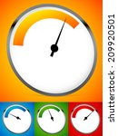 Постер, плакат: Gauge dial backgrounds Low