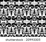 seamless black and white... | Shutterstock .eps vector #20993305