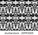 seamless black and white... | Shutterstock .eps vector #20993305