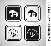 mushrooms | Shutterstock .eps vector #209939557