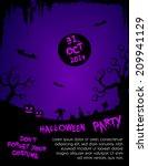 halloween party flyer template  ... | Shutterstock .eps vector #209941129
