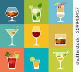 alcohol drinks and cocktails... | Shutterstock .eps vector #209943457