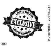 exclusive  limited edition ... | Shutterstock .eps vector #209951164