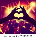 a crowd of people at a concert ... | Shutterstock . vector #209953129