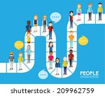 different social groups of... | Shutterstock .eps vector #209962759