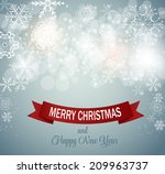 christmas snowflakes background ... | Shutterstock .eps vector #209963737