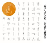 hand tools icons   eps10 vector ...