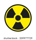 radiation sign | Shutterstock .eps vector #209977729