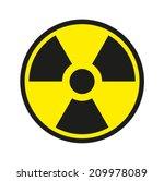 traditional radiation symbol | Shutterstock . vector #209978089