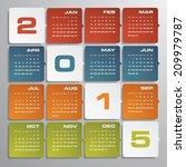 simple editable vector calendar ...   Shutterstock .eps vector #209979787