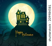 vector illustration of a scary... | Shutterstock .eps vector #209984581