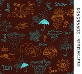 seamless background  weather | Shutterstock .eps vector #209985901