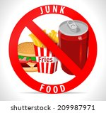 avoid junk food poster with... | Shutterstock .eps vector #209987971